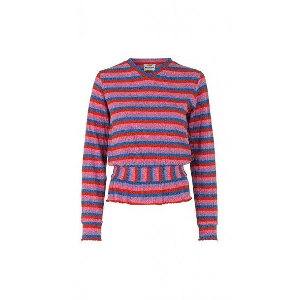 3ea9f651 Mads Nørgaard, Beautina, Super Stripe t-shirt, Multi red - Mærker ...